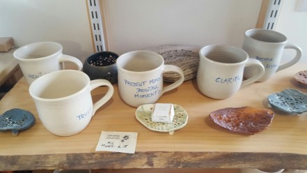 Merry mugs at Clay Songs Ceramics