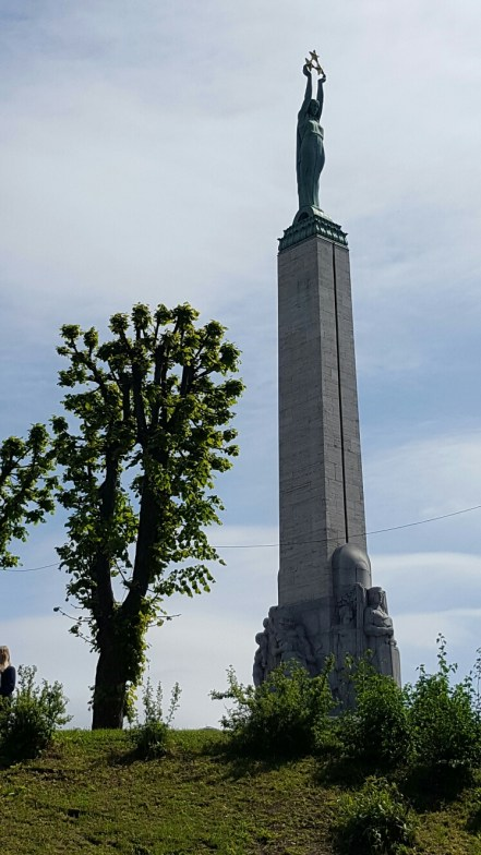 The Freedom Monument as seen from the River Cruise.