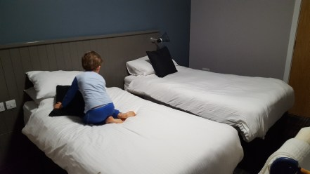 The tots' twin room