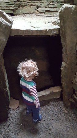 Visiting the Tomb of the Eagles in Orkney with Kids