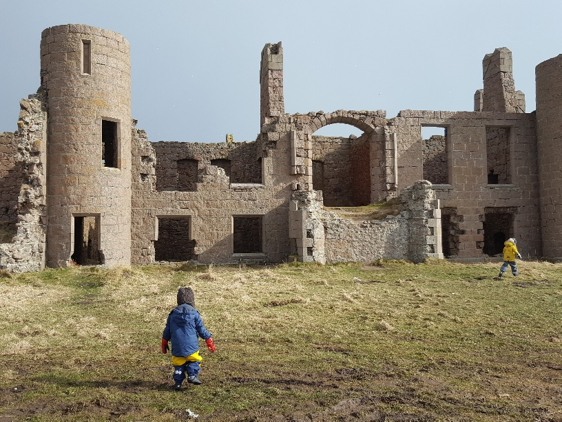 Visiting Slains Castle in Aberdeenshire with Kids