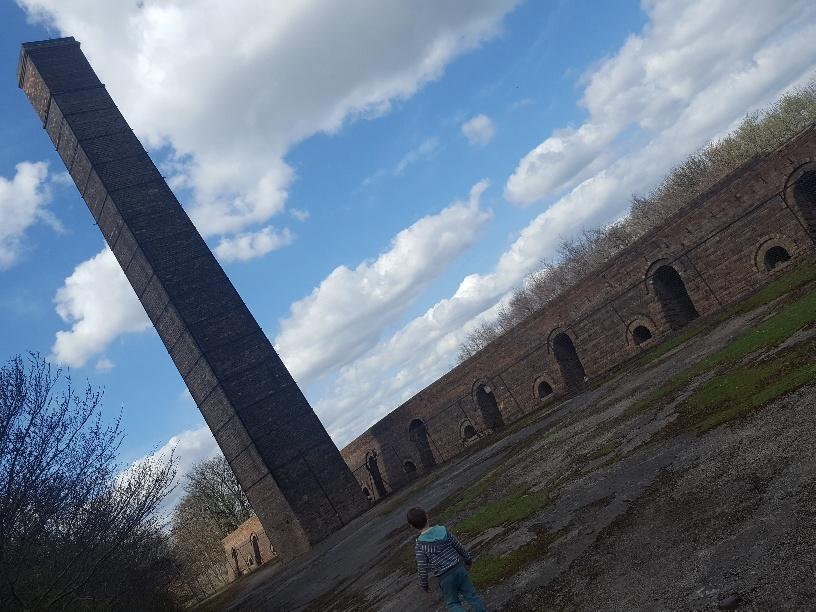 The deserted brickworks at Prestongrange