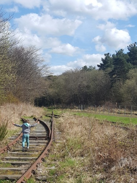 Following the rail tracks at Prestongrange