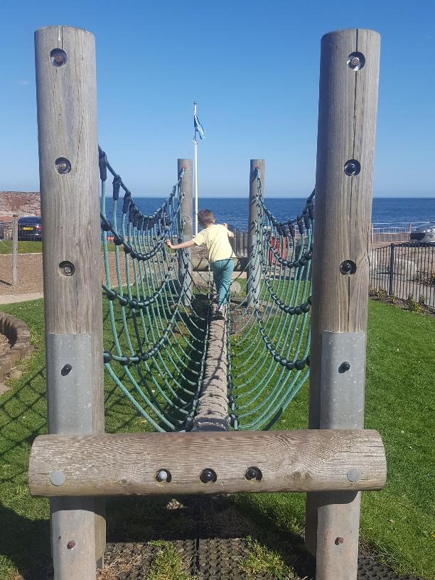 A fab beach and playground at Dunbar