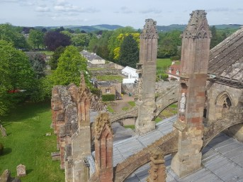 Views from the tower of Melrose Abbey