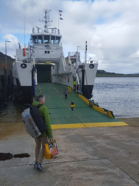 Boarding the ferry to Raasay