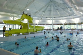 The pool with flume and wave machine, at Macdonald Aviemore Resort - image courtesy of MAR