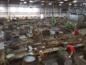 Crafting whisky barrels