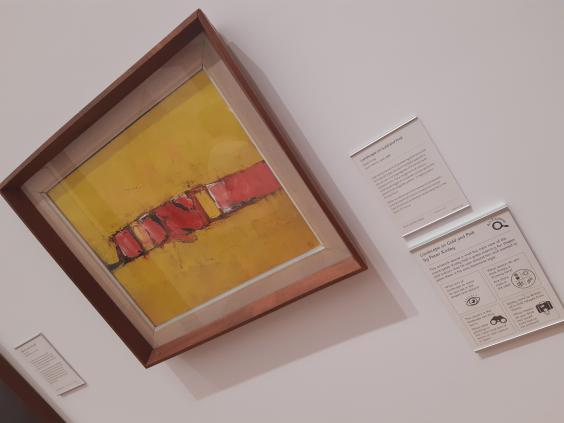 A yellow and red painting?