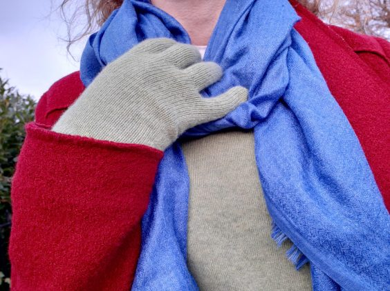 Jumper by Brora, gloves by Johnston's of Elgin, scarf from Links House, Dornoch