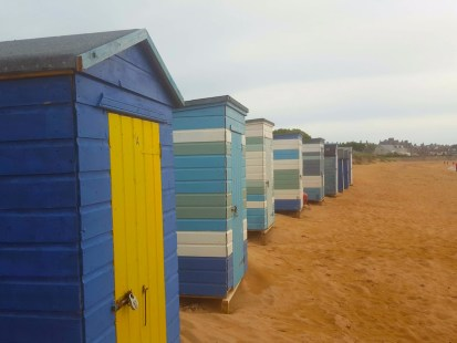 The beach huts of Elie