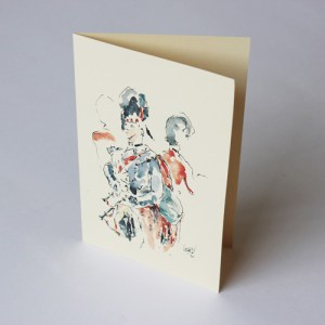 Greeting Cards Pipers - Pack of 3