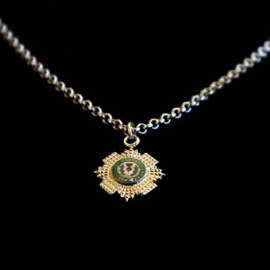 Silver & Enamel Scots Guards Pendant Small