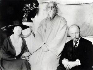 Maria and Hermann Keyserling with Rabindranath Tagore