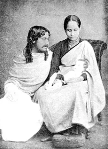 Rabindranath Tagore and Mrinalini Devi with their first child Bela, 1886. Image credit: Ministry of Culture, Government of India