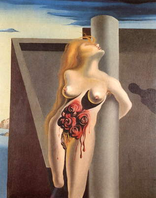 The Bleeding Roses by Salvador Dali
