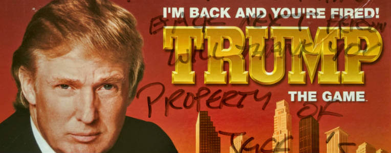 Picture of Trump the Game with beach property owner handwriting on box