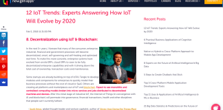 Scott Amyx on How IoT Will Evolve by 2020