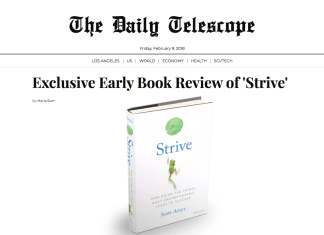 Scott Amyx on The Daily Telescope Strive Book on Success