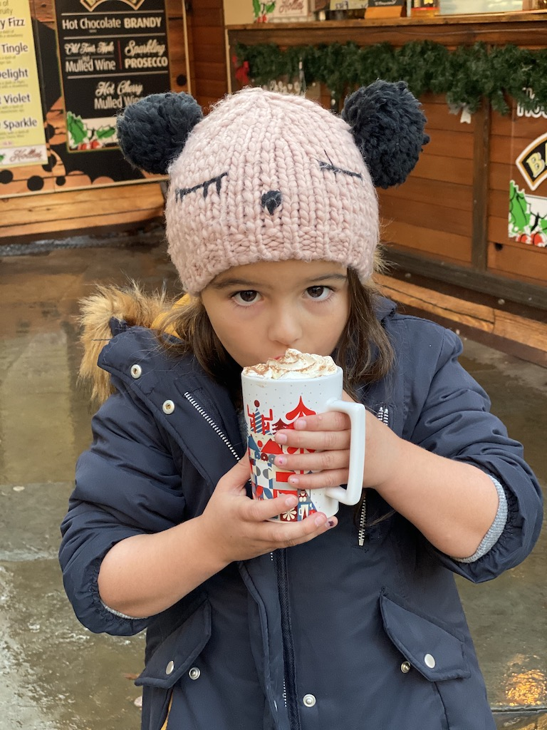 Hot chocolate at the Manchester Christmas Markets