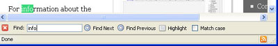 Firefox find