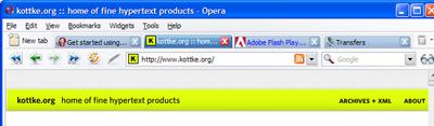 Browser review: Opera 9 02 | Scott Berkun