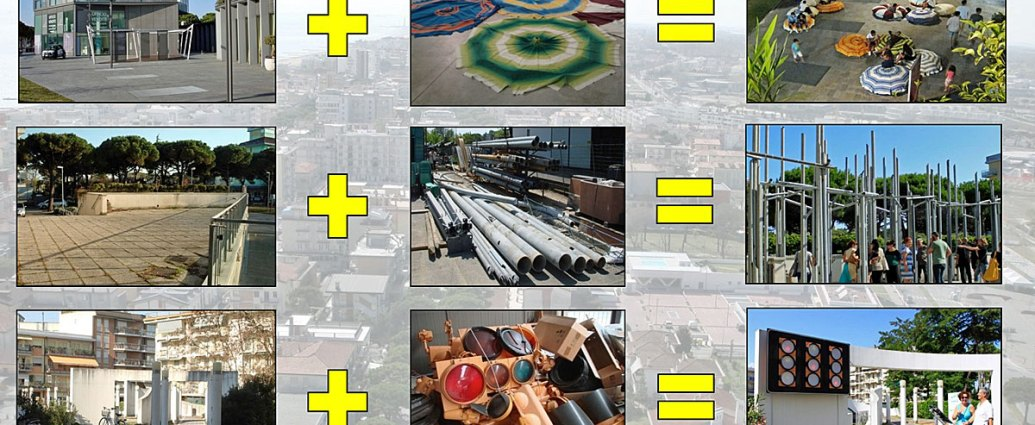 Reviving public spaces through reusing existing urban materials.