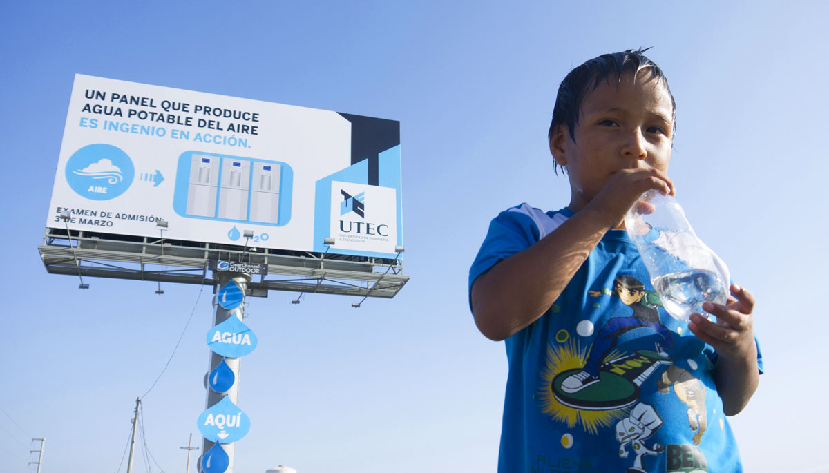 UTEC Water Billboard Reprogramming the City repurposing existing urban structures