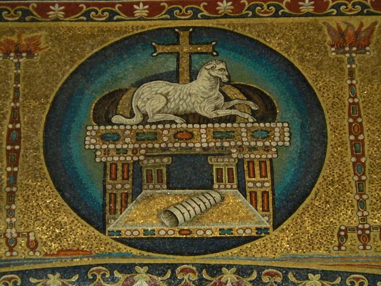 Santi Cosma e Damiano apocalyptic lamb 6th c