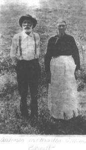"Andrew Anderson BARNETT and  Martha ""Peggy"" A. GILLIAM"