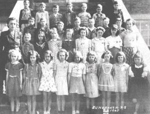 Third Grade Class of Dungannon School, 1945