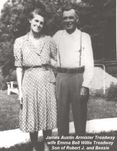 James Austin Armister Treadway & Emma Belle Willis