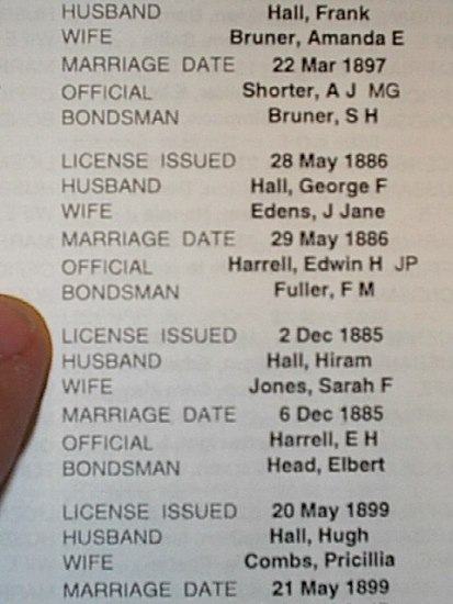A Marriage List