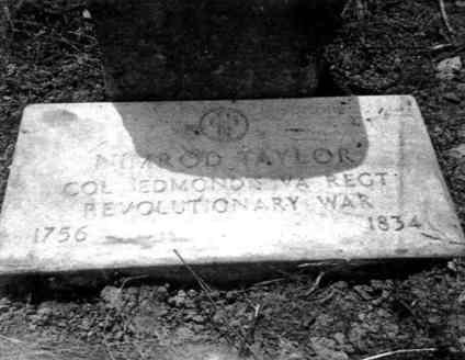 Nimrod TAYLOR, Sr. Army Service marker, Carter Cemetery, Rye Cove, Virginia