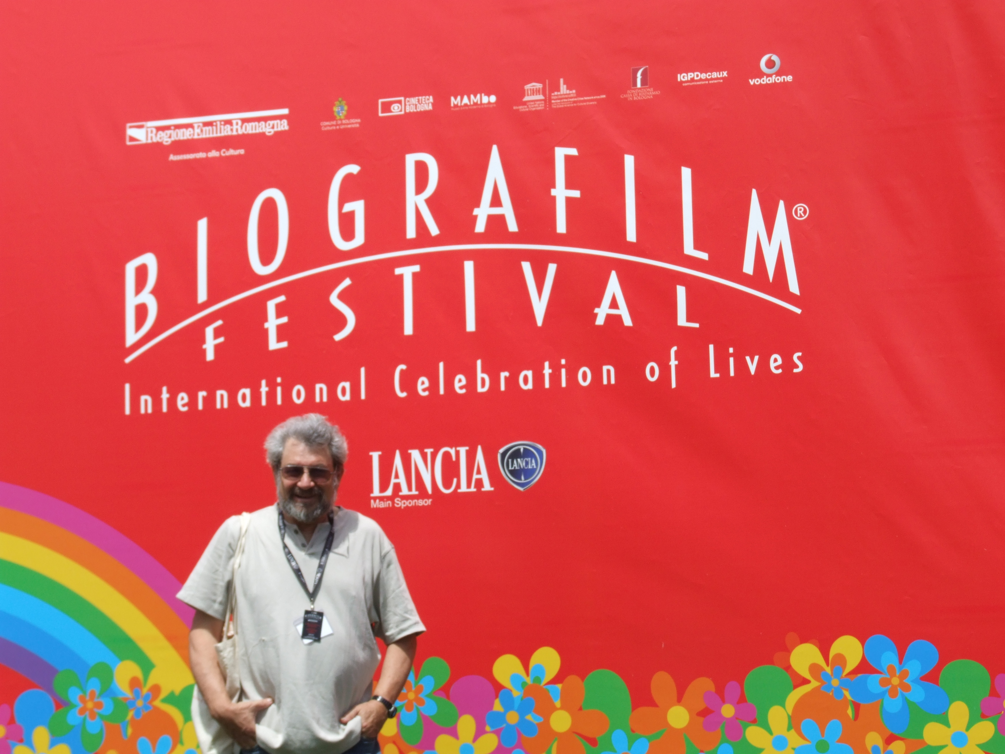 Here I am, stragegically posed outside the festival theaters.