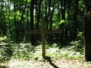 Grave site marker on Mt Roderick