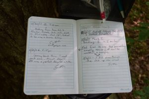 Trail register, east of Bully Hill Rd