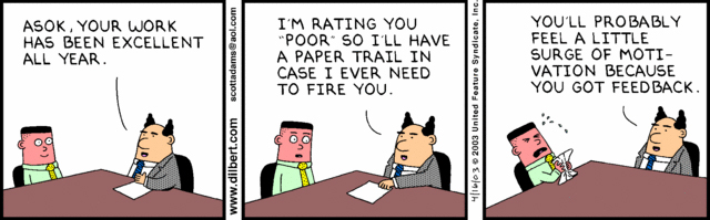 Dilbert Performance Review funny