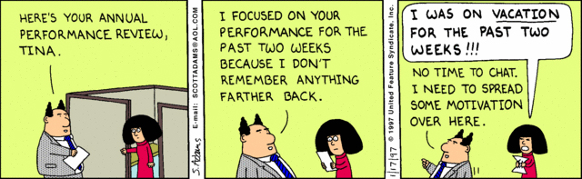 Dilbert Employee Evaluation funny