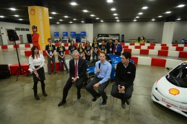 During the Shell press conference, Brad Keslowski talks about his passion in racing & sees a similarity with the quality of the Cedarville's urban concept car.