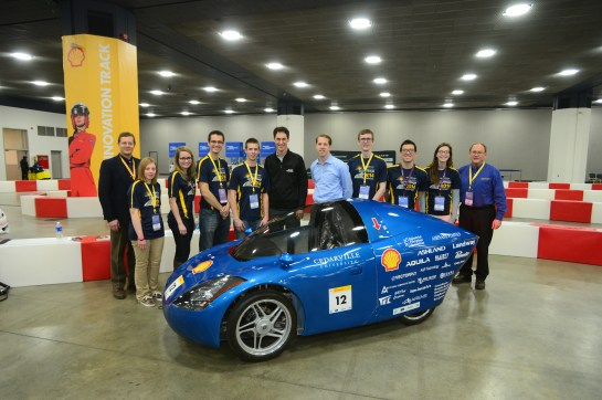 Can't go without a group photo of Cedarville's supermileage team and Shell sponsored, NASCAR's own Brad Keslowski & Joey Logano.