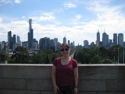 Melbourne from the balcony of the Shrine of Remembrance