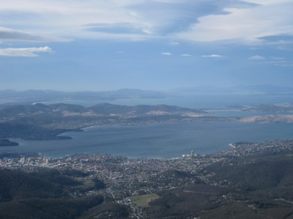 Hobart from Mt William