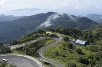 The road up Gunung Raya