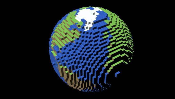 pixelated-globe