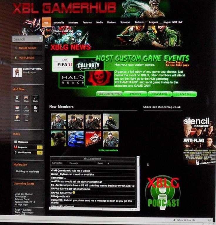 Xbox Live Gamerhub screenshot