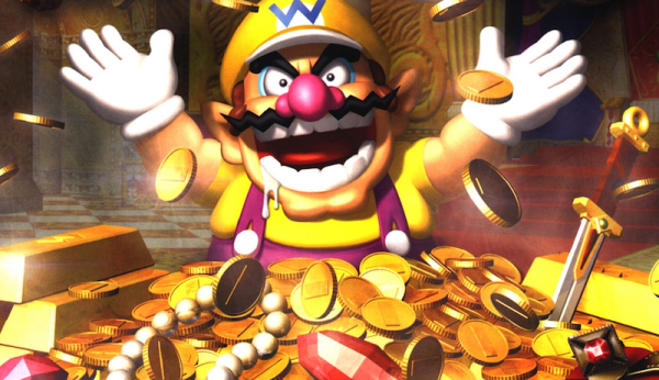UK Games Growth. Wario enjoying a Scrooge McDuck moment