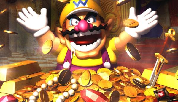 UK Games Growth. Wario enjoying a Scrooge McDuck moment