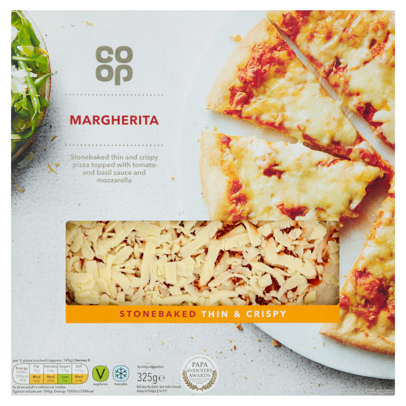 Co Op Pizza Thin Crispy Margaritta Scottish Grocers