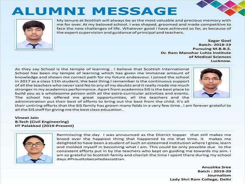 Alumni Messages